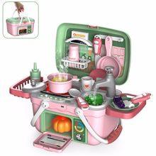 30 pçs/set crianças cozinha brinquedos comida cozinhar mala preten jogar brinquedo elétrico spray de água do agregado familiar das crianças conjunto presente para meninas