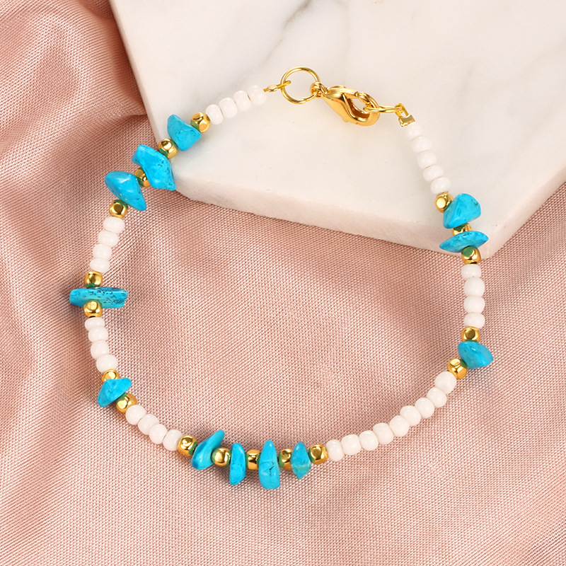 Bohemia Boho Beads Anklets for Women Vintage Leather Rope Leg Ankle Anklet Moon Sun Charm Bracelet Beach Jewelry in Anklets from Jewelry Accessories