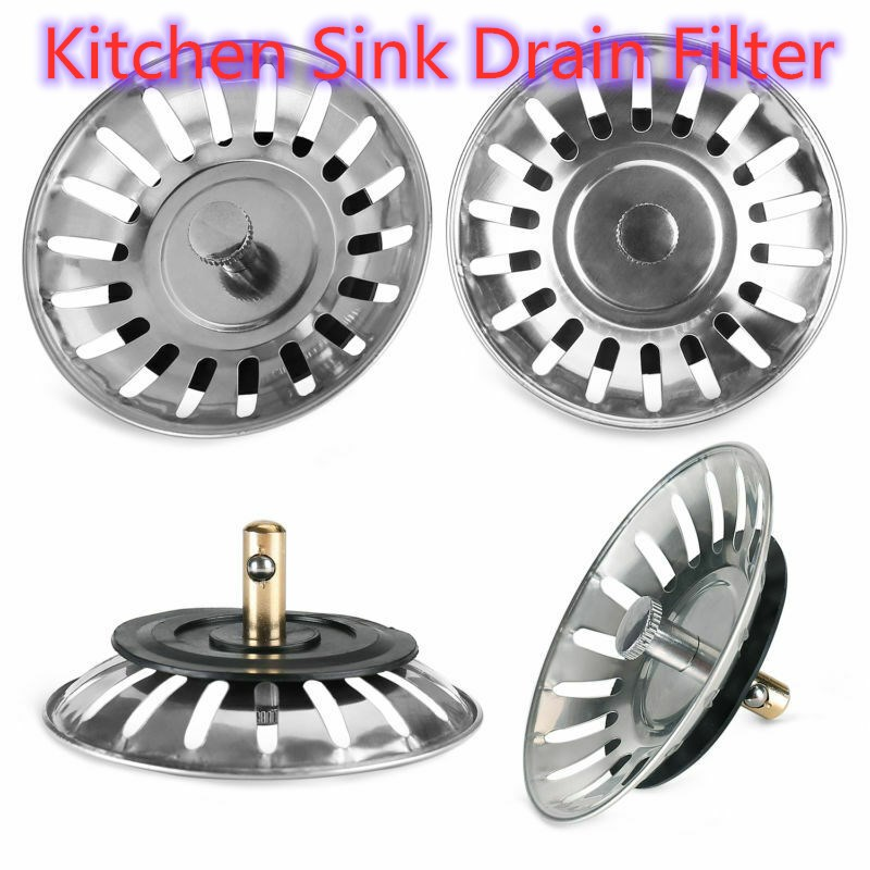 Stainless Steel Sink Filter Sink Strainer Stopper Bathtub Hair Catcher Stopper Shower Drain Hole Filter  Kitchen Sink Accessory