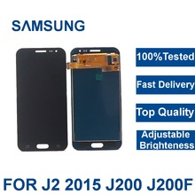 100% tested For Samsung Galaxy J2 2015 J200F J200M J200H J200Y LCD Display Digitizer Touch Screen Assembly brightness adjustment replacement lcd display with touch screen digitizer assembly for samsung galaxy j2 asm j200f j200h j200m j200y j200g