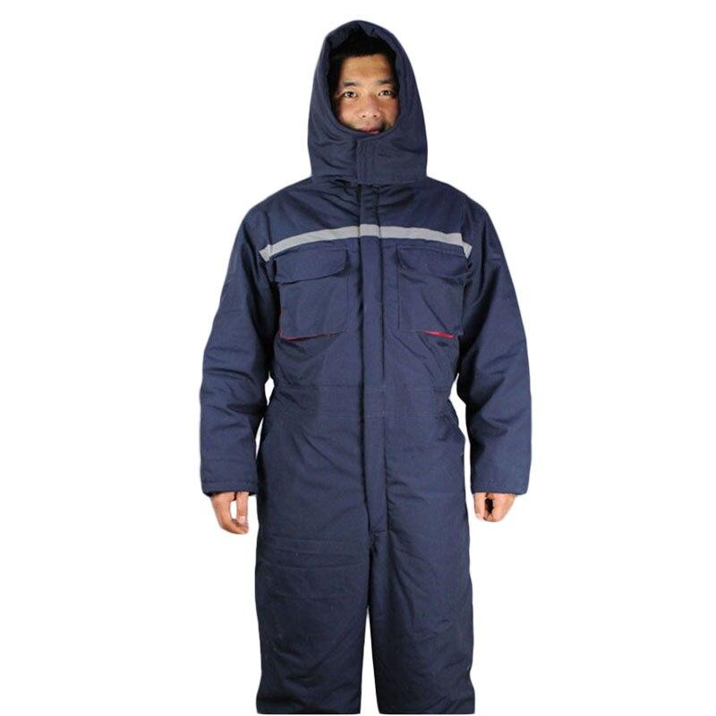 Зимняя рабочая одежда, мужская стеганая защитная одежда, уличная рабочая одежда, зимняя утолщенная теплая защитная одежда, комбинезон