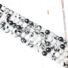 Black Crystal Natural Stone Beads For Jewelry Making Diy Bracelet Necklace 4/6/8/10/12 mm Wholesale Strand