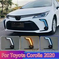 For Toyota Corolla 2020 2PCS LED Daytime Light Running Super Brightness 12V Car LED DRL Waterproof ABS Daylight Bulb