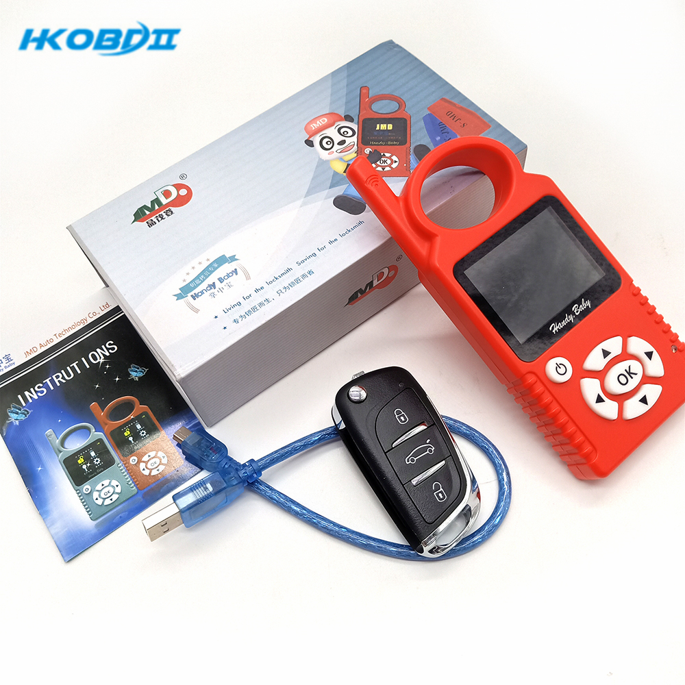 HKOBDII JMD Handy Baby Handy Baby1 1pcs JMD Super Remote Auto Key Programmer For 4D/46/48/Red/King Chip CBAY Chip Multi-Language