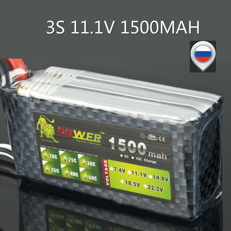 LION POWER 3S 11.1V 1500MAH 35C T/XT60/JST Remote Control Model Aircraft Battery Manufacturers Lithium Polymer 3S Li-po Battery