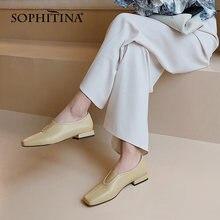 Sophitina/женская новая обувь на плоской подошве; Лоферы с закрытым