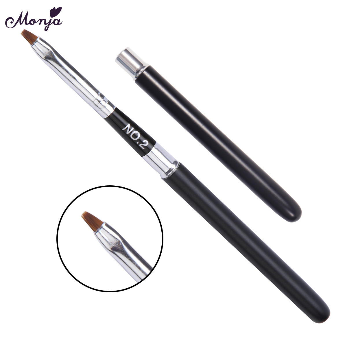 Gold Silver Metal Handle Lip Gloss Makeup Brush Portable Retractable Adjustable Lipstick Brush With Protect Cap Cosmetic Tool