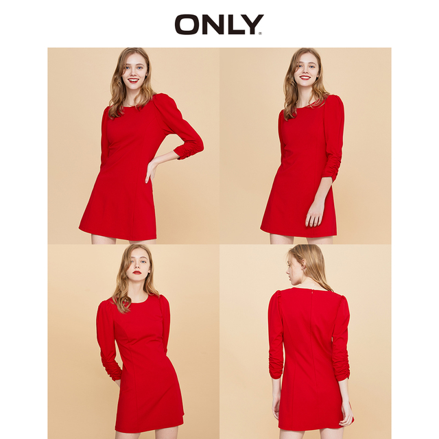 ONLY Women's  Slim Fit Red Dress | 120161518 2