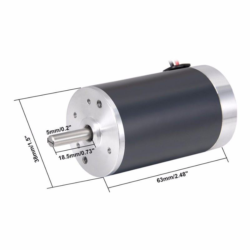 <font><b>10W</b></font> <font><b>DC</b></font> <font><b>Motor</b></font> 12V 24V High Speed 2000/3000/4000/5000/6000rpm Micro Electric <font><b>Motors</b></font> 12 V Volt <font><b>Motor</b></font> 0.5A DC12V DIY Tools 38SRZ image