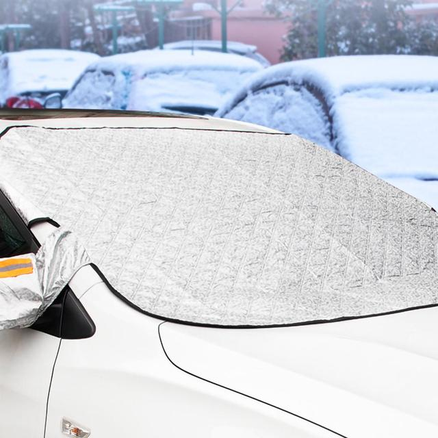 240*190cm Magnetic Car Windshield Snow Cover Tarp Winter Ice Scraper Frost Dust Guard Sunshade Protector Protector Heat Sun Mat 3