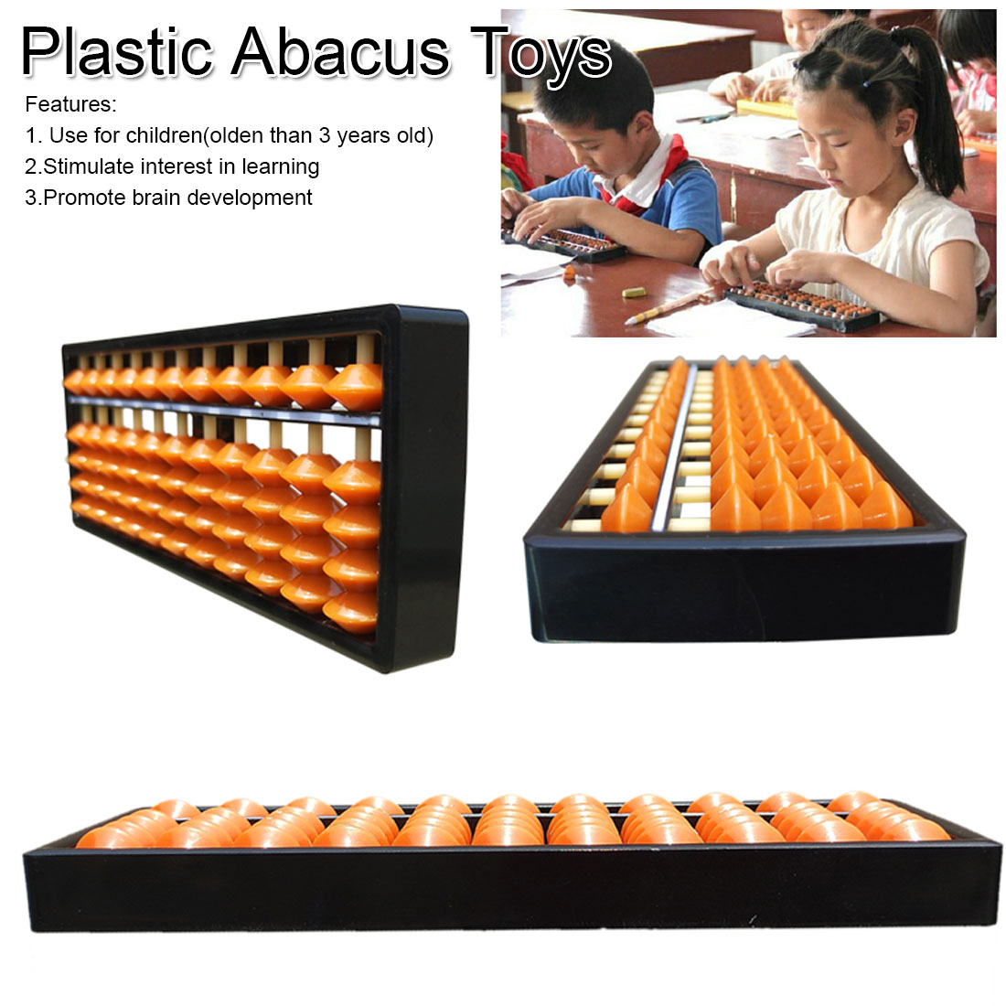 11 Digits Abacus Soroban Beads Column Kid School Learning Aids Tool Math Business Chinese Traditional Abacus Educational Toys Fo