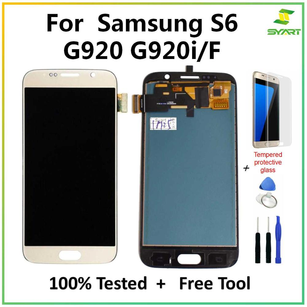 TFT For Samsung Galaxy S6 G920 TFT LCD Display Touch Screen Digitizer Assembly For Samsung Galaxy S6 G920A G920P LCD Screen|Mobile Phone LCD Screens| |  - title=