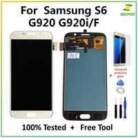 Tft para samsung galaxy s6 g920 tft lcd tela de toque digitador assembléia para samsung galaxy s6 g920a g920p tela lcd