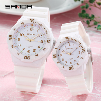 Sanda Lover Watches 2020 New Fashion Couple Watches For Lovers Waterproof Couple Watches Pair Men and Women amante relógios cute cartoon style couple lovers keychain silver pair