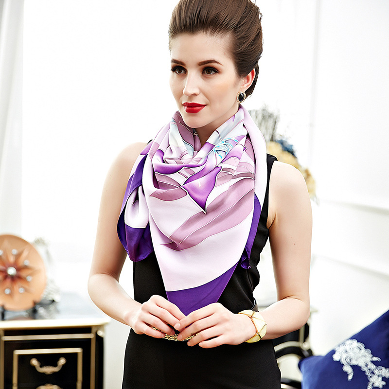 "New silk scarf/gift scarf ""viola"" heavy weight silk satin mulberry silk scarf/large shawl"