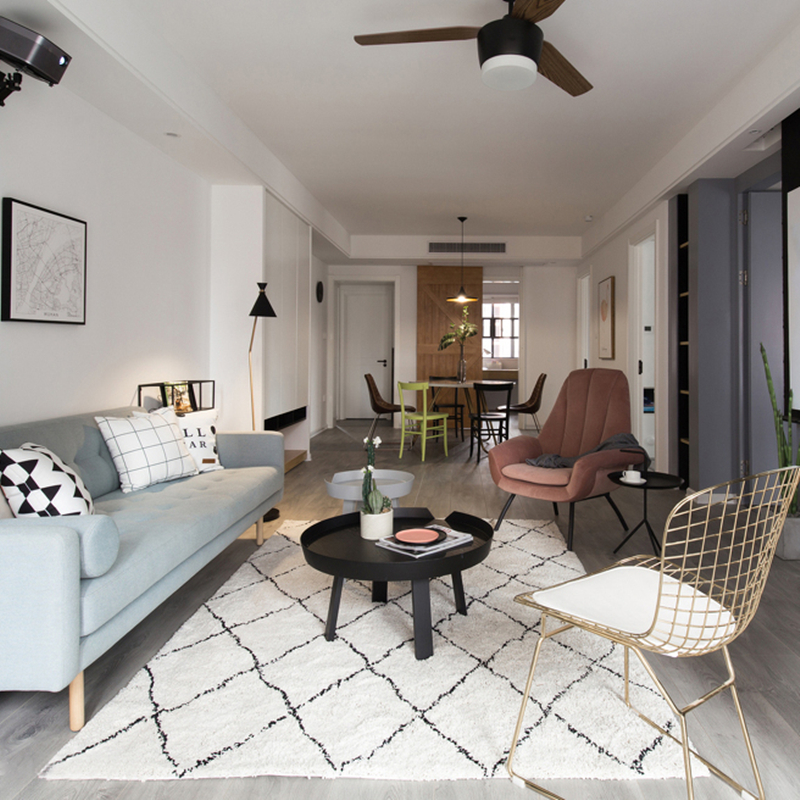 Nordic Morocco Carpets For Living Room Kilim Handmade Bedroom Carpet Modern Soft Plush Rug Kids Room Floor Mat Bohemia Carpet