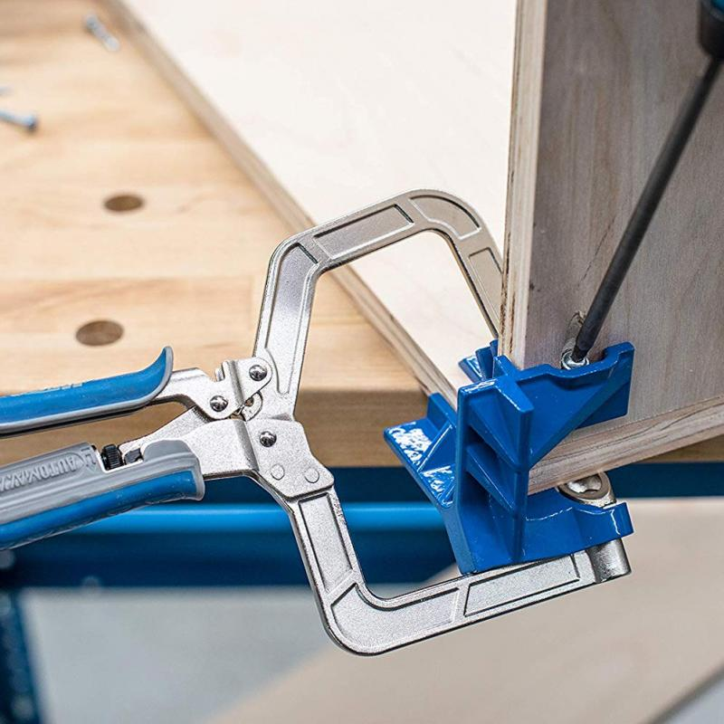 90 Degree Right Angle Fixed Punch Mounter Corner Clamp Miter Jigs Woodworking Tool T Joints 90 Degrees For Kreg Jigs