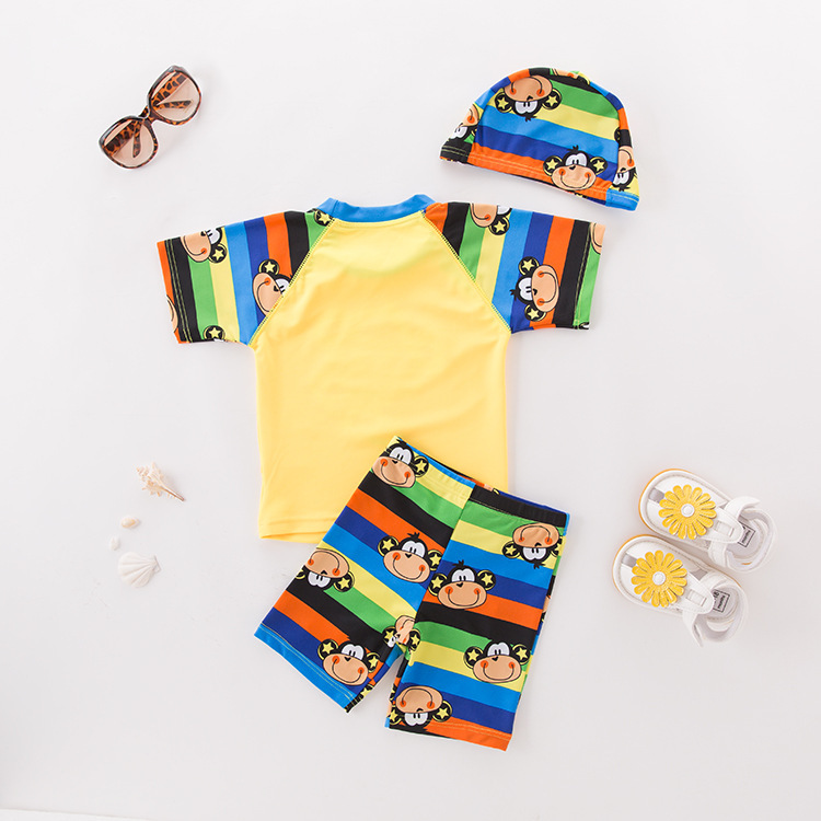 Men's Two-piece Swimsuits Yellow Monkey-KID'S Swimwear Hot Springs Clothing