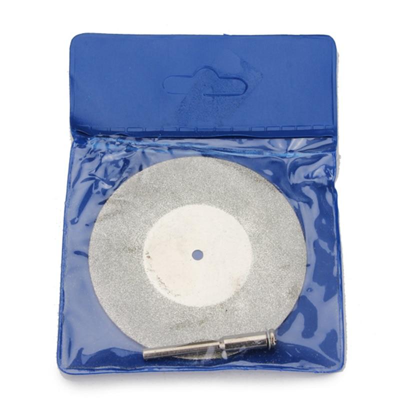 60 мм Алмазный шлифовальный круг металлический режущий диск для мини Dremel роторный инструмент Аксессуары с 1 шт. вал Арбор