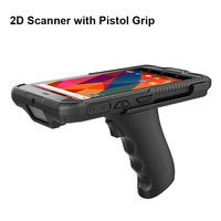 6 Industrial Rugged Portable Mobile PDA Data Collection Terminal Wireless Handheld PDA Barcode Scanner Android with Pistol Grip