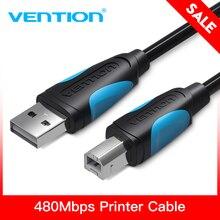 USB firmy vention kabel do drukarki rodzaj USB B męski na męski kabel USB 2.0 do Canon Epson HP drukarka etykiet ZJiang kabel drukarki USB DAC