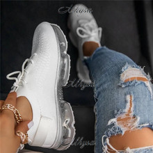 2020 Women Casual Shoes Breathable Female Fashion Sneakers Women Air Cushion Shoes Woman Mesh Platform Sneakers Zapatos Mujer