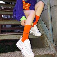 1 Pair Women Socks Spring Long Socks Cotton Solid Color Women Fashion Fresh COTTON Socks for Women Korean Streetwear