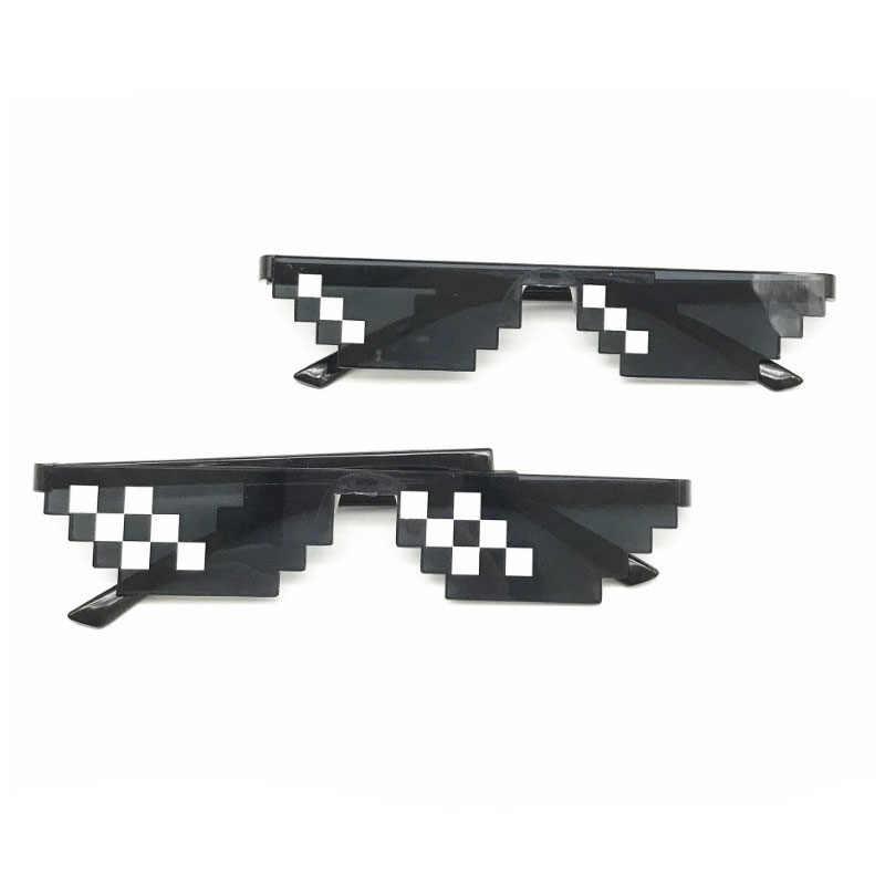 Yeni moda güneş gözlükleri çocuklar oynamak aksiyon oyunu oyuncaklar kare gözlükleri çocuklar için hediyeler