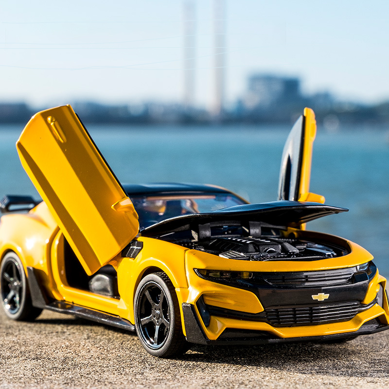 New Camaro 1:32 Alloy Diecast Car Model Pull Back Sound Light Kids Toy Cars Collection Vehicles For Children's Gifts машинки