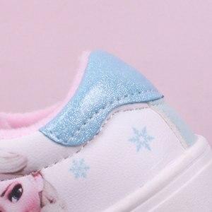 Image 3 - Niños Niñas zapatos de pisos casuales niños estudiante zapato niño zapatillas de deporte de moda Elsa Anna zapatillas de deporte de invierno deporte de abrigo zapato
