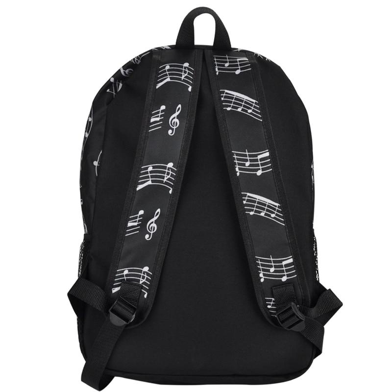 bolsa de tela Oxford para almacenamiento de arte color negro Mochila musical Fransande con notas musicales