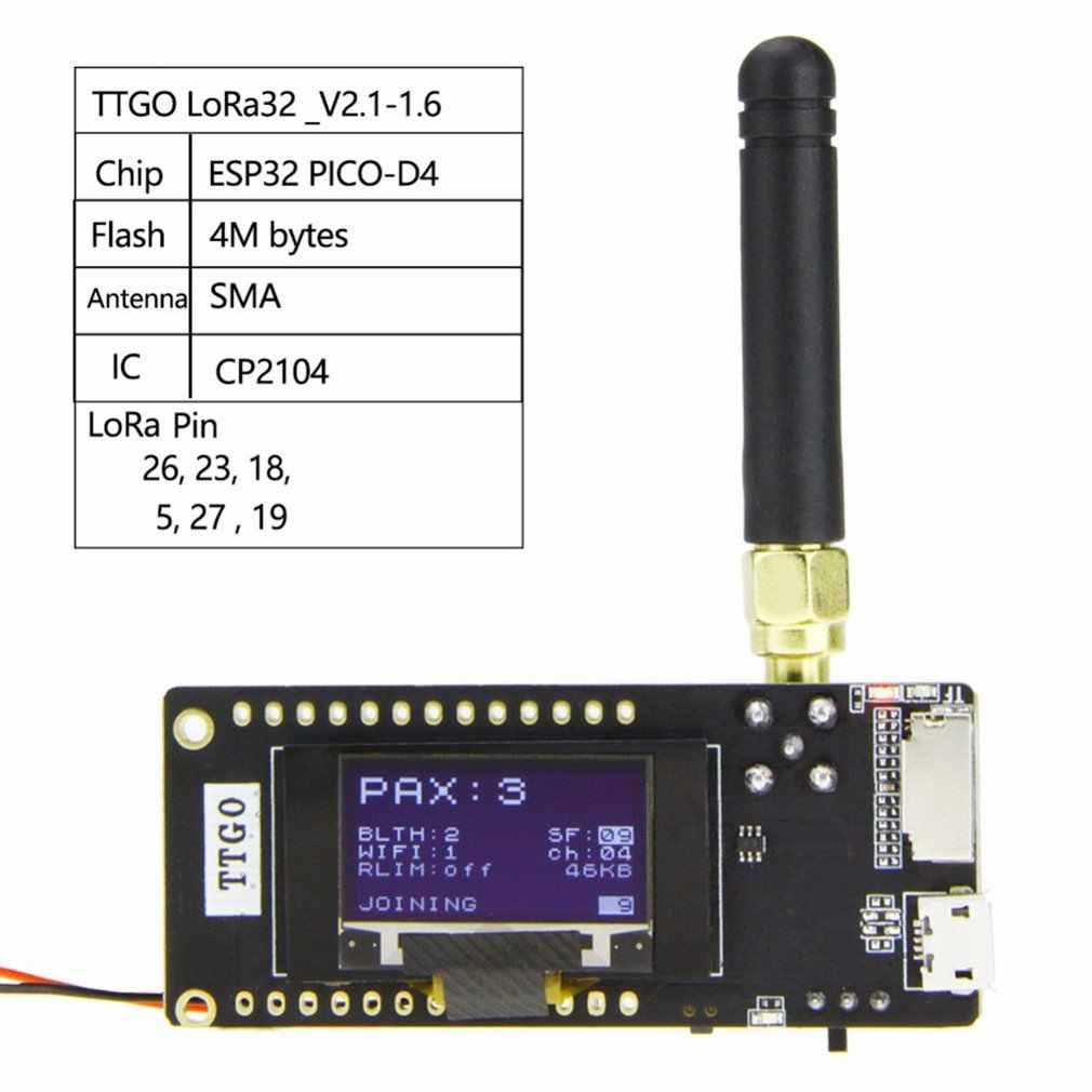 ESP32 LoRa32 V2.1 1.6 Version 433/868/915MHZ LoRa ESP-32 OLED SX1276 ESP32 Oled-affichage BT sans fil WIFI Lora carte de développement
