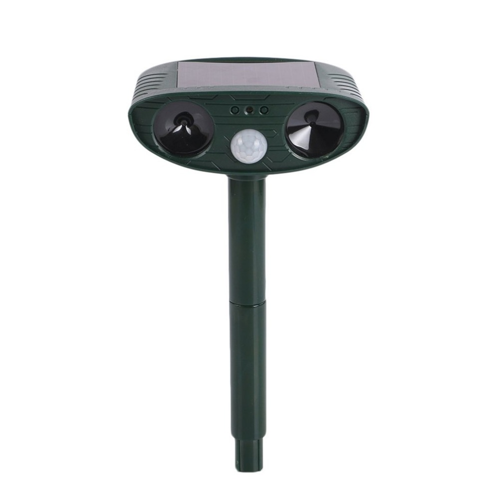 Solar Powered Motion Activated Animal Ultrasonic Cats Dogs Repeller Frighten Animals 511 For Outdoor Gardening Pest Control