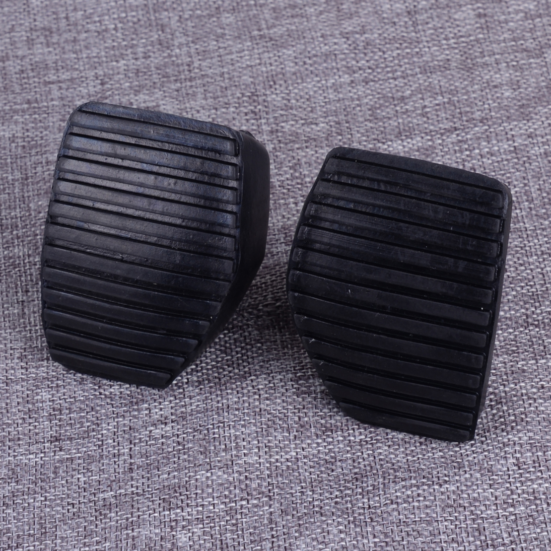 1 Pair Brake Pedal Rubber Clutch Pedal Cover Pad for Peu-geot Cit-roen 1007 207 208 301 C3 C4 C5 C6 C8