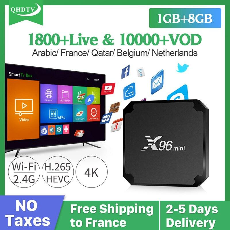 IPTV France Box X96 MINI Android 7.1 Smart IPTV Box S905W 1 Year QHDTV IPTV Subscription Netherlands Arabic Belgium French IP TV web page