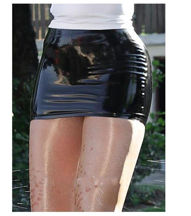 100% Natural Latex Mini Skirt Rubber Skirt For Women Summer Skirt