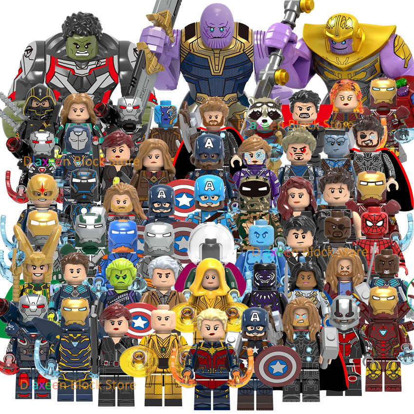 Super Heroes Avengers Endgame Building Blocks Iron man Thanos Spiderman Compatible with Legoeings Marvel Mini Action Figures Toy