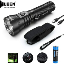 WUBEN LED Flashlight Powerful Light 4200 Lumens CREE XHP70 LED A21 Ultra-bright Rechargeable 21700 Battery Waterproof IPX8