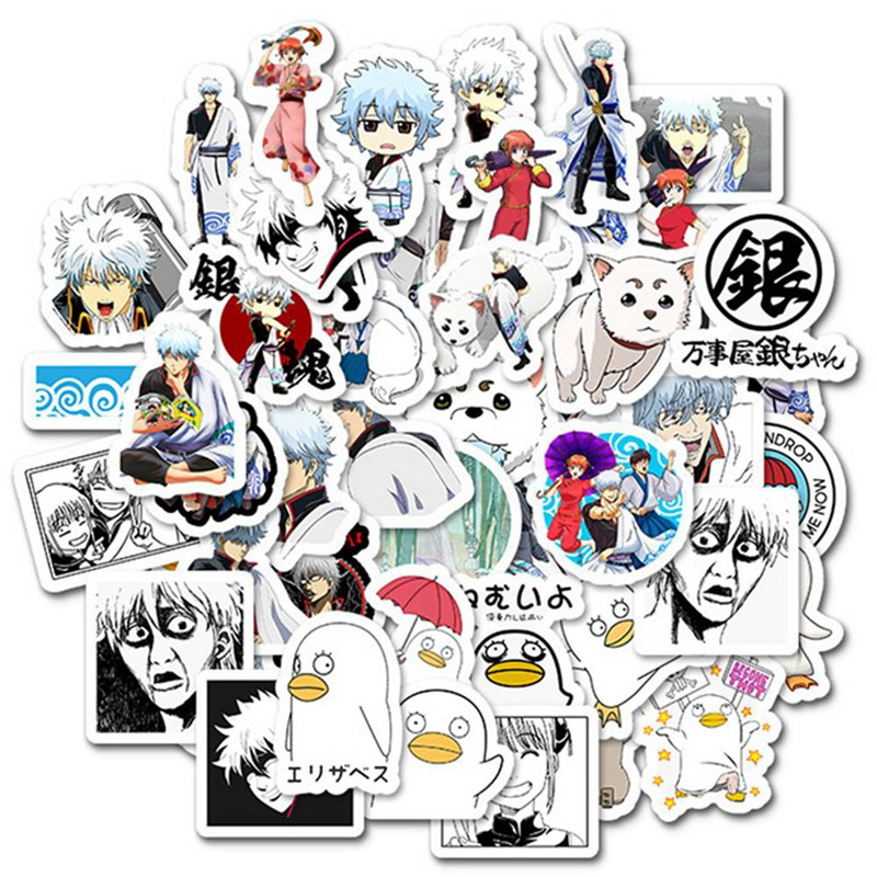 Anime GINTAMA Around The Suitcase Stickers Classic Toys Cartoon Anime DIY Bus ID Card Stickers Boy Girl Gifts Toys