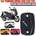 Для YAMAHA X-MAX XMAX 300 250 125 XMAX300 XMAX250 XMAX125 мотоциклетная Передняя Тормозная жидкость резервуар Крышка Тормозная жидкость крышки топливного бака