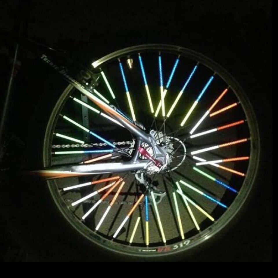 Bicycle Bike Wheel Spoke Mount Reflector Reflecteur Clip Reflective Safety