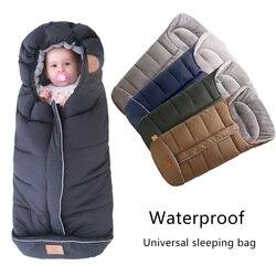 Baby Sleeping Bags Envelopes Winter Thick Warm Sleepsacks Waterproof Sleepsack For Baby Stroller Infant Footmuff Wheelchair