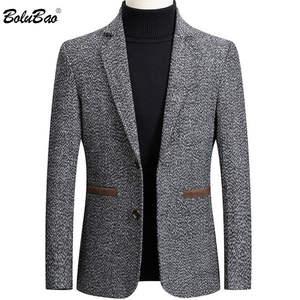 BOLUBAO Casual Blazer Jacket Suit Slim-Fit British-Style Retro Male Men's Fashion Brand Men