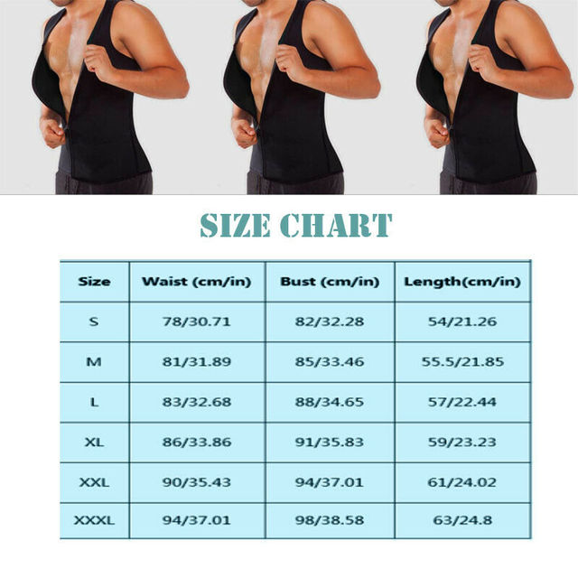 UK Men Slim Shaper Neoprene Belt Fitness Gym Sport Vest Sweating For Fat Burning Waist Body Suits 5