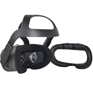 Image 2 - Sweat Proof VR Eye Maskแผ่นBracketสำหรับOculus Quest VRแว่นตาBreathableหนังFlanneletteหน้ากากฝาครอบPadอุปกรณ์เสริม