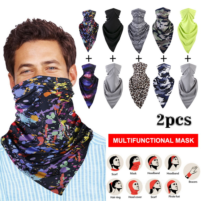 Outdoor Face Cover Fashion Outdoor Mask Scarves Multi Functional Seamless Hairband Head Scarf Bandana Neck Cover(China)