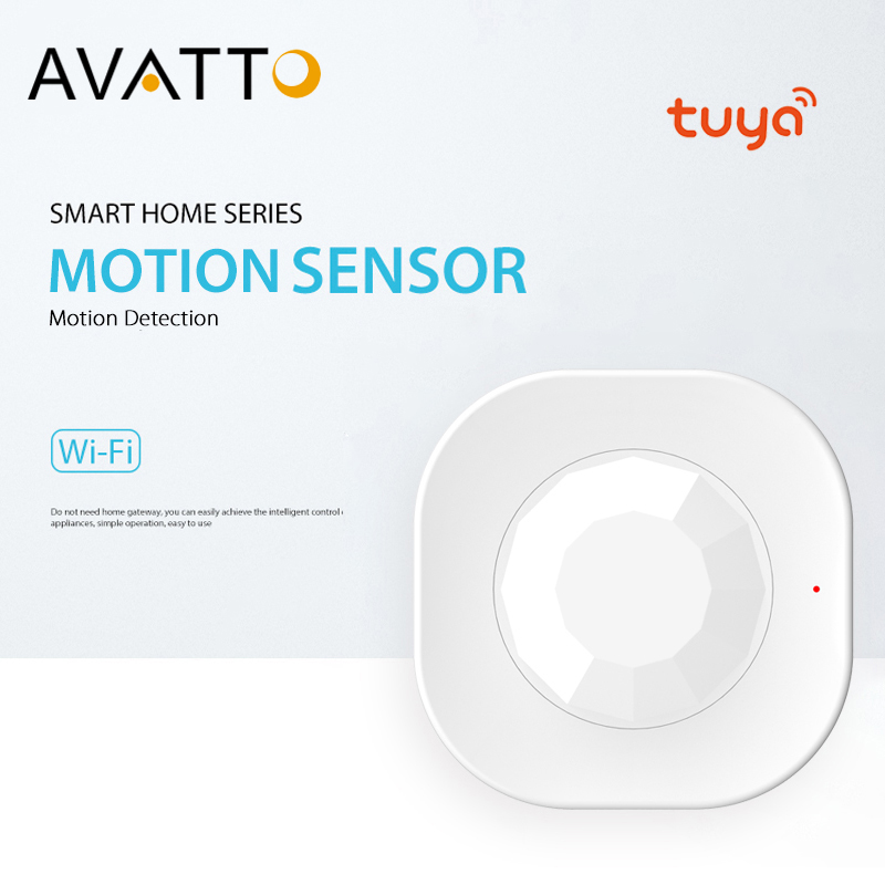 AVATTO Tuya WiFi PIR Motion Sensor, Infrared Passive Detector, Security Burglar Alarm Sensor Smart Life APP Control Smart Home