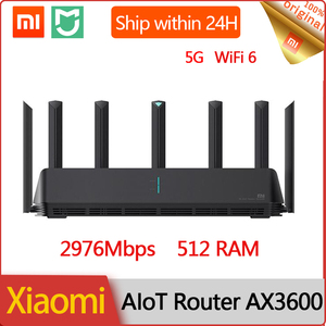 Original Xiaomi AIoT Router AX3600 5G 512RAM Wifi 6 2.4G 5.0G Dual-Band 2976Mbs Gigabit Qualcomm A53 External Signal Amplifier