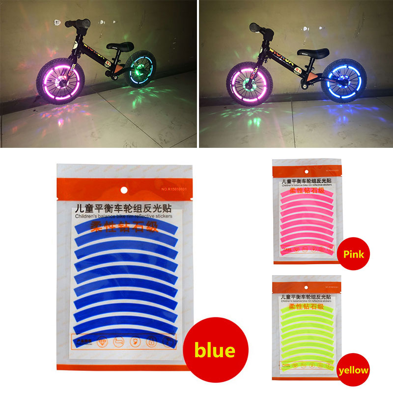 3 Colors Reflective Film Children Outdoor Sport Reflective <font><b>Sticker</b></font> <font><b>Scooter</b></font> <font><b>Sticker</b></font> Portable Protect Bicycle Reflective Paste image