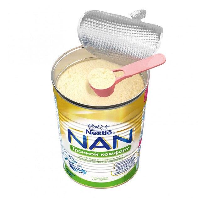 Молочная смесь NAN Тройной комфорт с рождения 400 гр